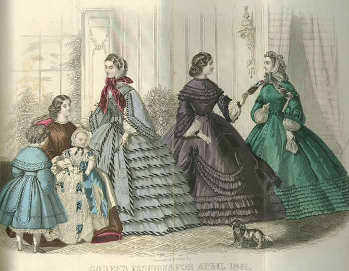 Godey Book Ladies April 1861
